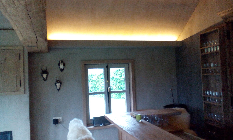 Sfeervolle Led Verlichting : Tuinhuis indirecte verlichting